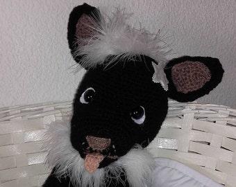 French bulldog in crocheted wool 38 cm