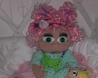 Doll Girl crochet bow.