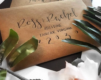 The Rustic Envelope, Addressing Included