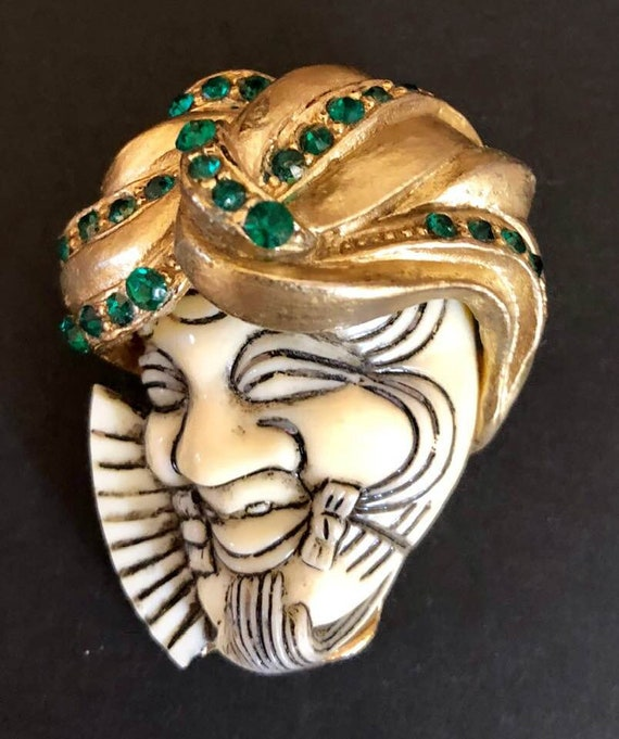 Vintage SELRO Style Asian Genie Brooch