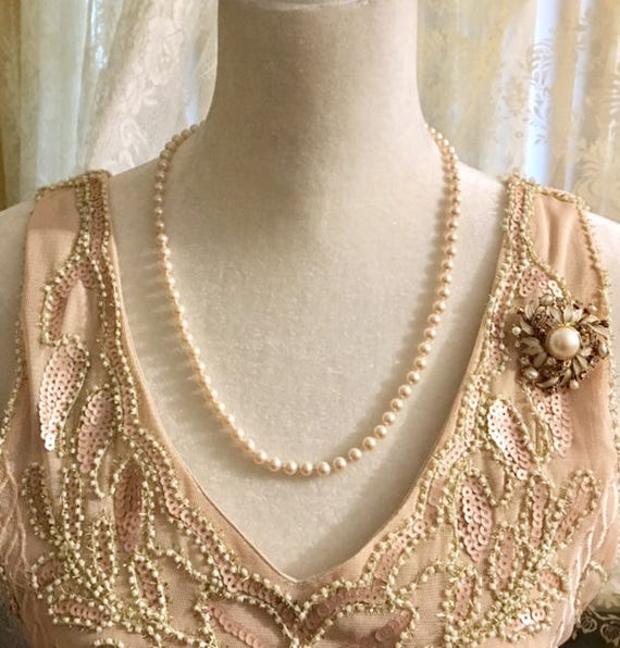 Vintage Pair- Monet Faux Pearl Strand and Faux Pe… - image 2