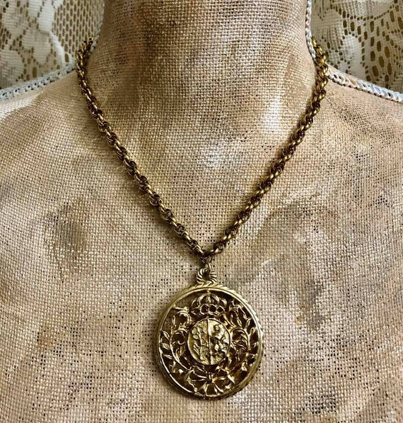 Vintage Coro Lion Necklace                   729
