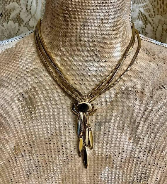 Vintage MONET Lariat Jewelry Set