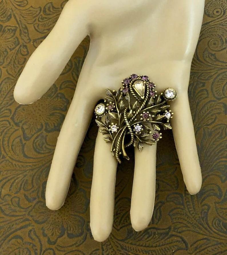 Vintage Coro Bejeweled Brooch         141
