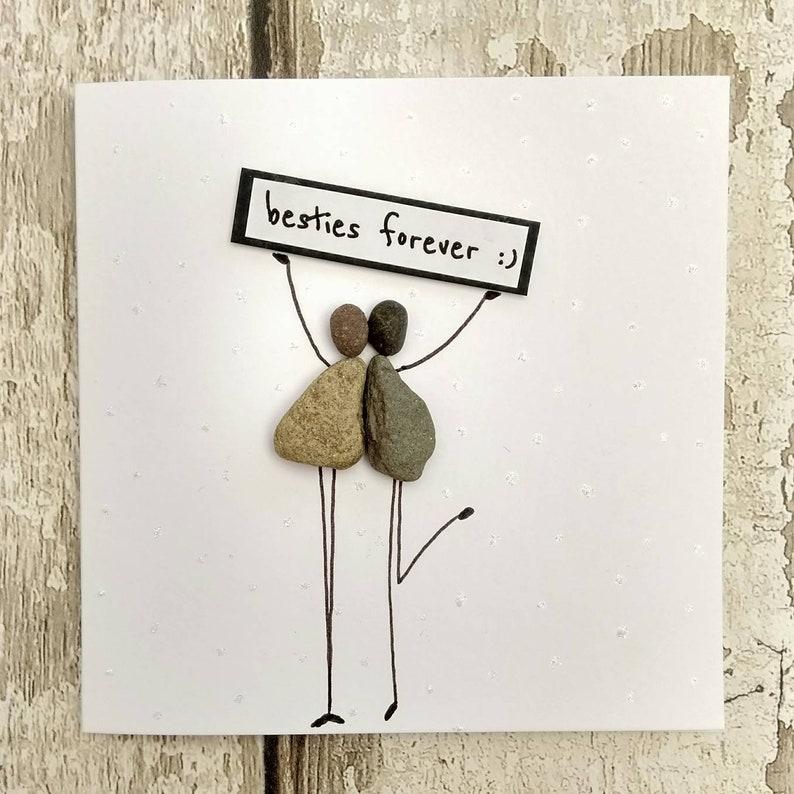 Birthday Card Best Friend Personalised Stick Man