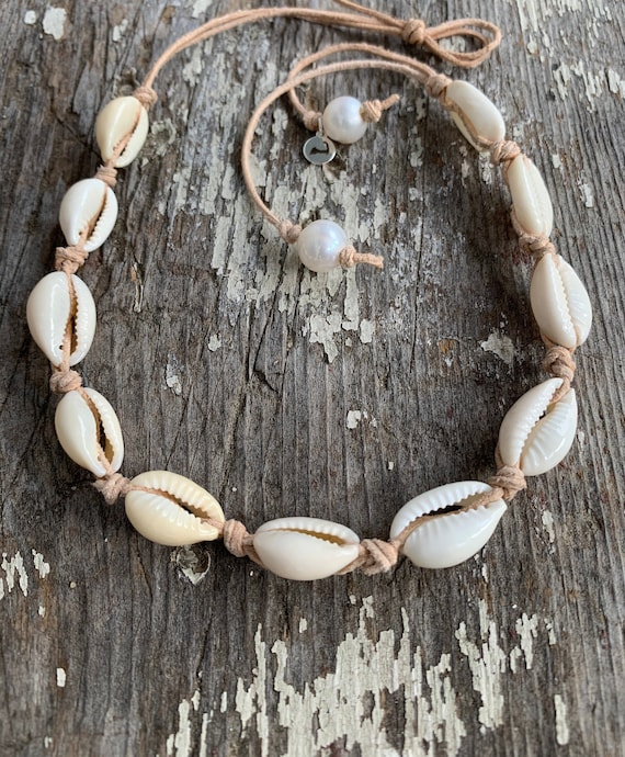 Elegant Natural Shell Necklace Clam Chips Shells Handmade Beach Choker Necklaces