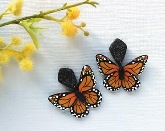 Monarch butterfly earrings: 2 Options