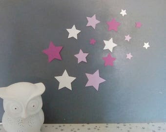 Set of stars paper for wall decoration
