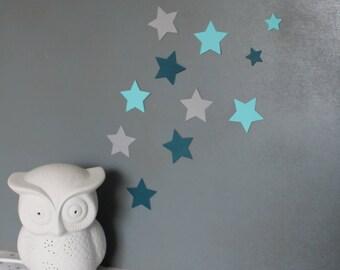 Set of stars wall decor