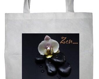 Personalized white tote bag