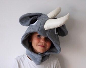 25c34b0b Rhino Costume | Kids Dress Up, Fancy Dress, Personalised Gift, Handmade  Costume, Bespoke, Montessori, Educational Toys, Waldorf, Christmas