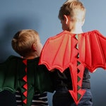 Dragon Wings | Dragon Costume | READY TO SHIP | St Davids Day | Welsh Dress Up | Kids gift, pretend play, dragons, Montessori, Welsh Costume
