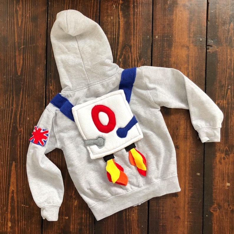 Kids Astronaut Costume  Personlised Hoodie  Kids Dress Up image 0