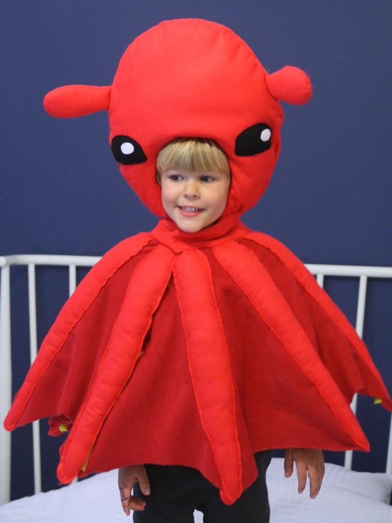 5834a82b Vampire Squid Costume Christmas Montessori Squid Hat | Etsy