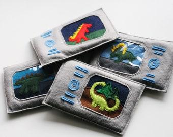 Dinosaur Gizmo ONLY - Choose Your Picture - Free Postage, Triceratops, Trex, Volcano, Diplodocus, Dinosaur Costume, Dinosaur Adventurer