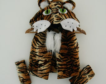 Tiger Costume | Halloween, Kids Dress Up, Tiger Came to Tea, World Book Day, Fancy Dress, Personalised Gift, Bespoke, Montessori