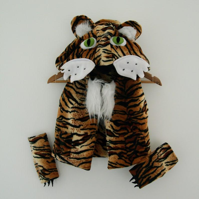 Brown Plush Tiger Costume Child Infant