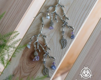 Branches earrings * Priestess dreams *-pagan, whimsical, branch, forest, branches, boho, bohemian, fairy, fairytale, wicca, moonstone