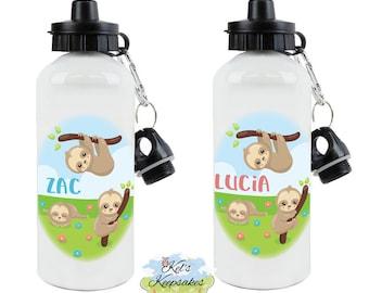 6694a47737 Personalised Sloth Aluminium Drinks Bottle - Personalised Water Bottle -  Sloth - Lazy - Sleepy - Animal