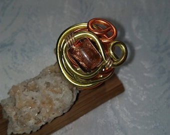 aluminum wire and glass bead ring