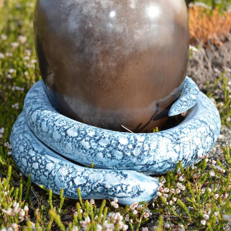 Handmade Ceramic Serpent with Cosmic Egg