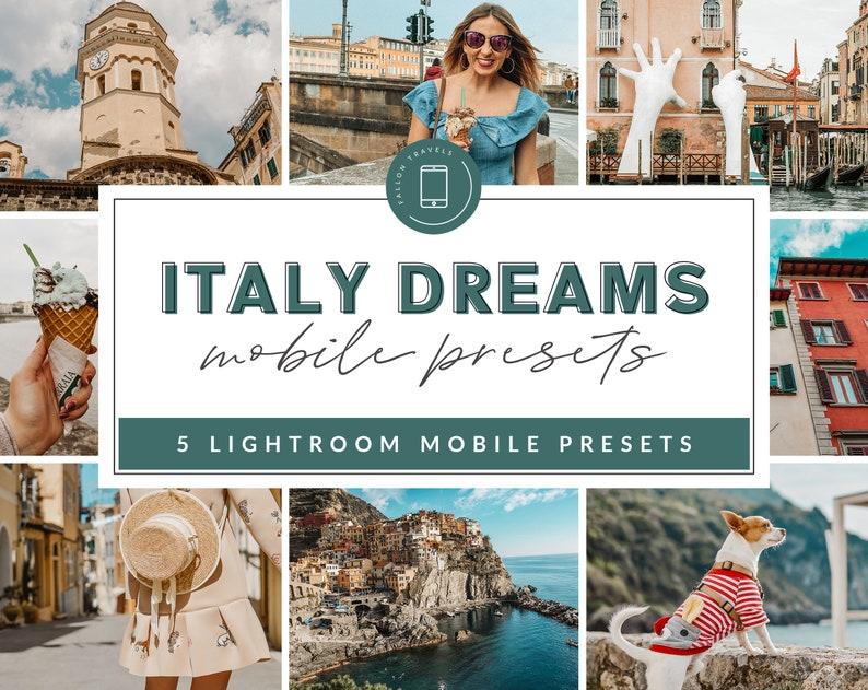 5 ITALY Mobile Lightroom Presets, Instagram Influencer, Lifestyle Blogger,  Travel LR portrait, social media