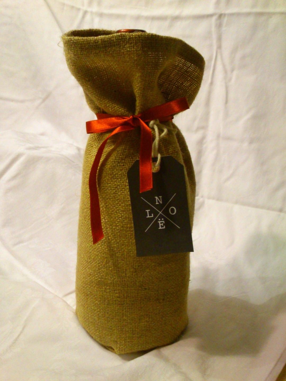 cadeau homme sac pour bouteille de vin champagne en toile de etsy. Black Bedroom Furniture Sets. Home Design Ideas