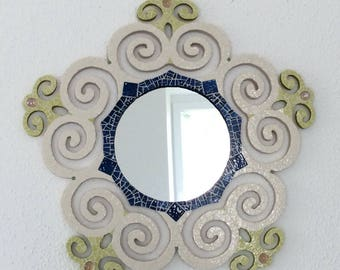 Mirror mosaic, Briare enamel and millefiori.