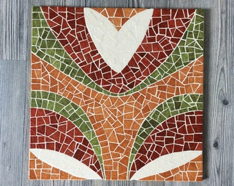 Aboriginal pattern mosaic trivet.