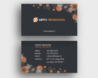 Business card template personalized reheart Choice Image