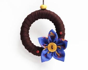 Little dangling designed eco Brown/Blue