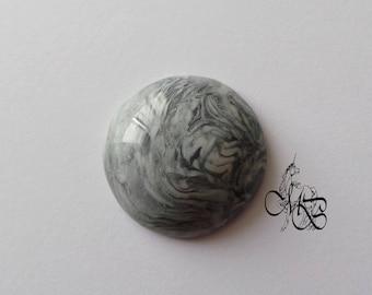"""""""Imitation gray stone"""" polymer clay cabochon #13"""