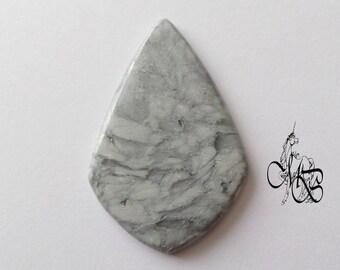 "Flat cabochon polymer clay ""imitation gray stone"" #7"