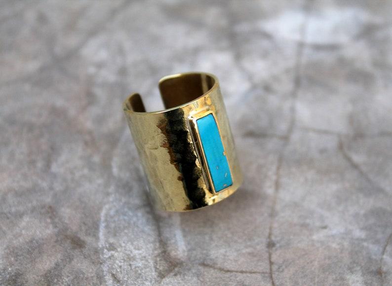 Long turquoise ring