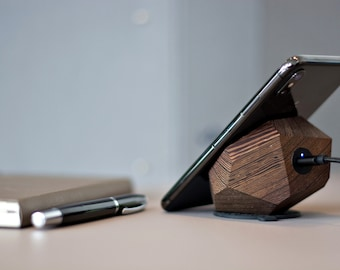 Exclusive Wenge Halo Fast QI (10w),  wireless charger, docking station, charging pad, thanksgiving, iphone xs, samsung note, lumia, gift