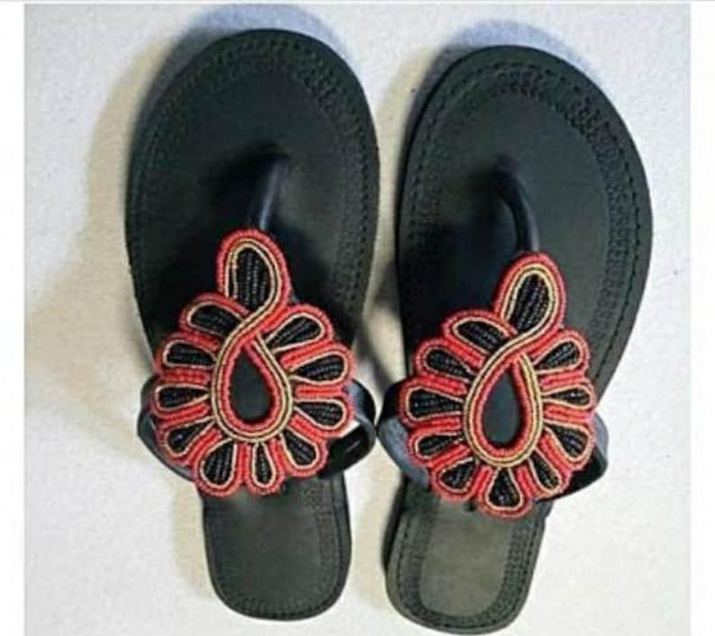 54af3694461c6 ON SALE!! African maasai sandals/ Kenyan sandals/ Leather sandals/ women  shoes/ Flat sandals / her gift/ Handmade sandals/ women fashion