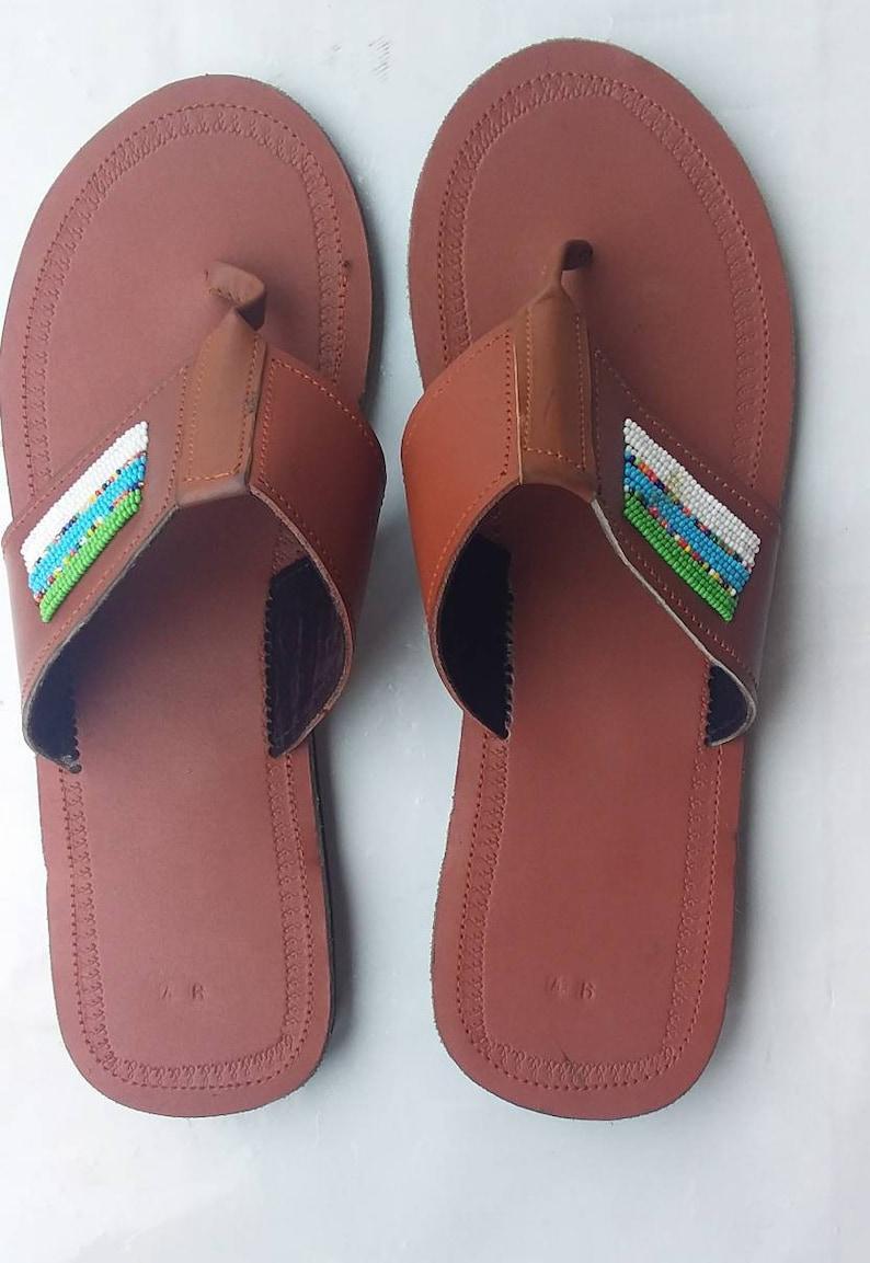 e9f58b06a0729 Men's sandals / Maasai men's sandals - African men's sandals - Men's summer  sandals- Sandals for men - Men's leather sandals - Brown sandals