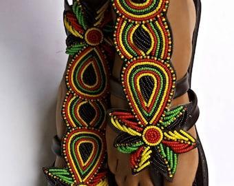 ON SALE! African gladiator sandal/Rasta sandals/Sandals for women/Bohemian sandals/Summer sandals/Leather sandals/ Maasai sandal/Kenyan shoe