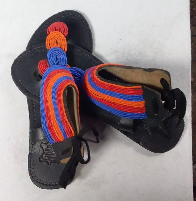 Gladiator sandals African beaded sandals for women is Maasai