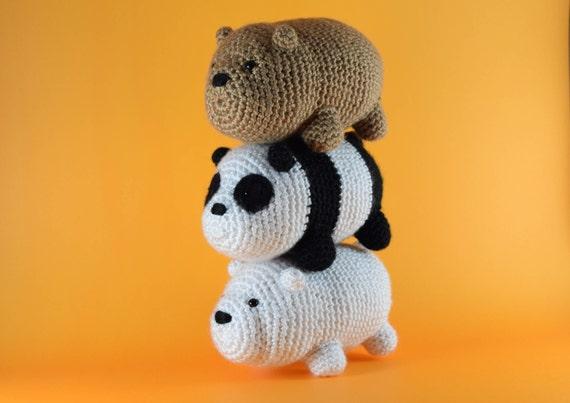 CROCHET PATTERN: We Bare Bears Inspired Baby Bear | Etsy | 403x570