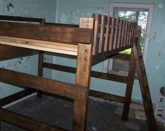 Queen Size Loft Bed Etsy