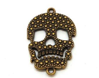 Connector bronze metal skull
