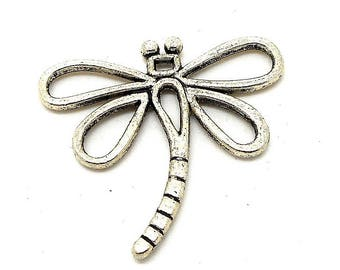 Style filigree silver Dragonfly charm