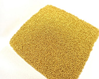 Bag of 10g of Golden glass microbeads