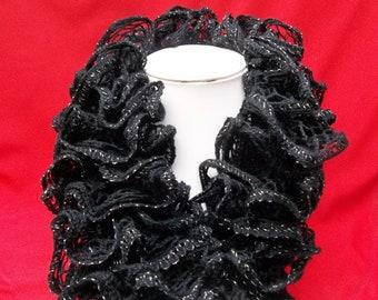 Fancy black fancy scarf