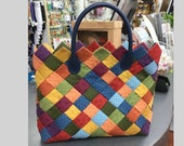Stylish Bag Pattern English PDF - Jelly Rolls Handbag Tutorial Instant Download - Patchwork bag pattern - Quilted bag tuto