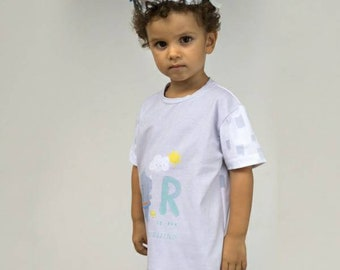 """Sky Rhinos"" jersey fabric depicting rhinos. Distributed by Katia. Oeko-Tex."