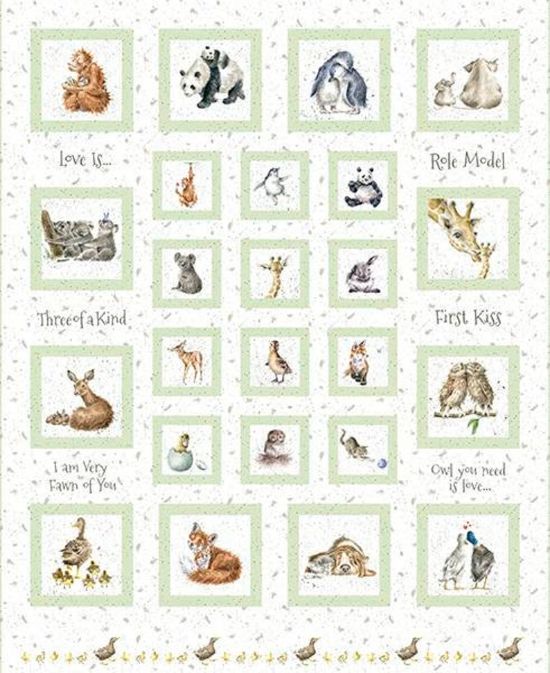 Children's animal-themed fabric board for plaid floor image 0