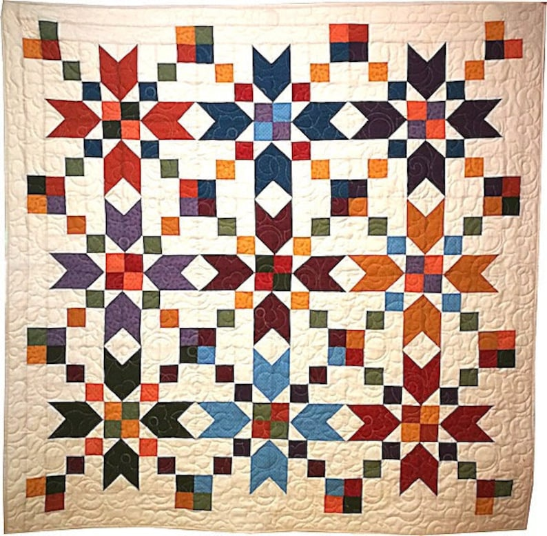 Kit Quilt stars autumn DIY / quilt tutorial and included image 0