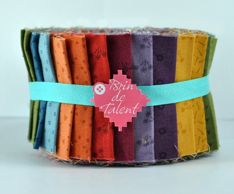 Quilt Roll Amsterdam / Multicolored Jelly roll / 24 strips of image 0